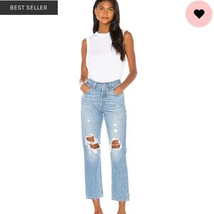 Levi's 501 Distressed Jeans